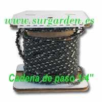 """Cadena de motosierra de paso .1/4"""" en rollo"""