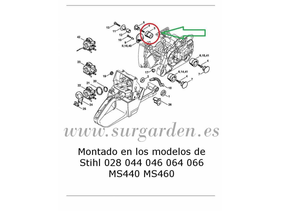 Despiece motosierra stihl 023