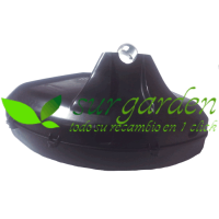 Protector hilo / disco universal para desbrozadora de tubo de 24 / 26 / 28 mms con cuchilla de corte de hilo