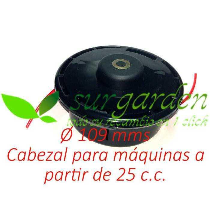 Cabezal de hilo Tapn´Go de 109 mms Ø de botón metálico para desbrozadora
