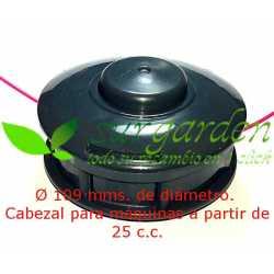 Cabezal de hilo Tap&Go de 109 mms Ø de botón plástico para desbrozadora