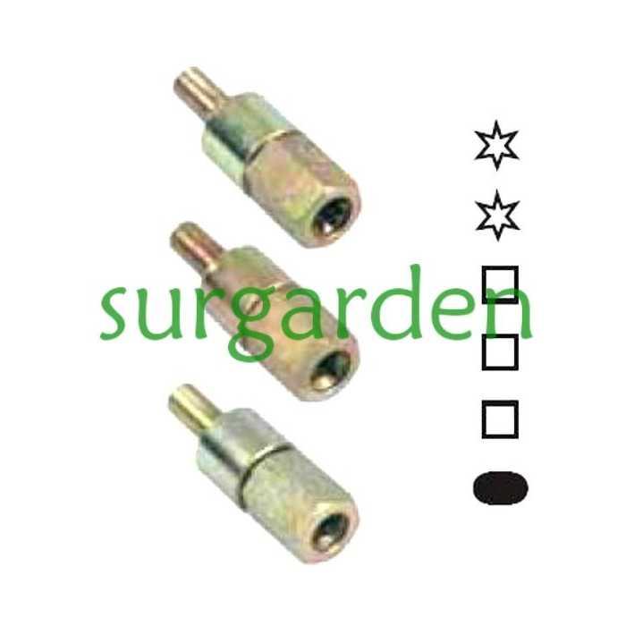 7 estrías / 7 mms de diámetro. Adaptador para codo de transmisión universal
