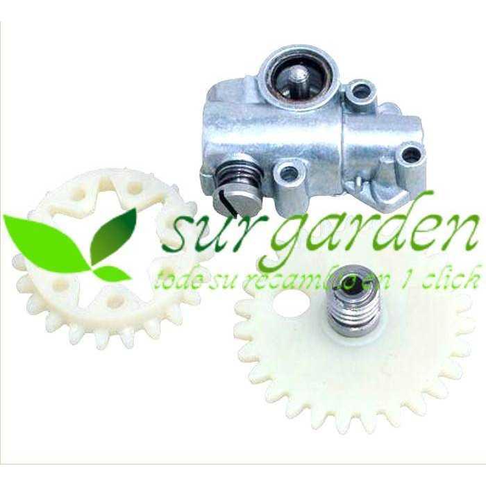 Bomba de aceite motosierra Stihl 038 / MS380 / MS381 referencia 1119 640 3200 para engrase de cadena
