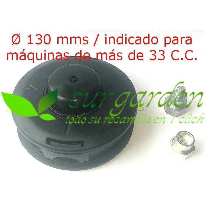 Cabezal de hilo universal con adaptador tipo Tap´N Go con botón plástico