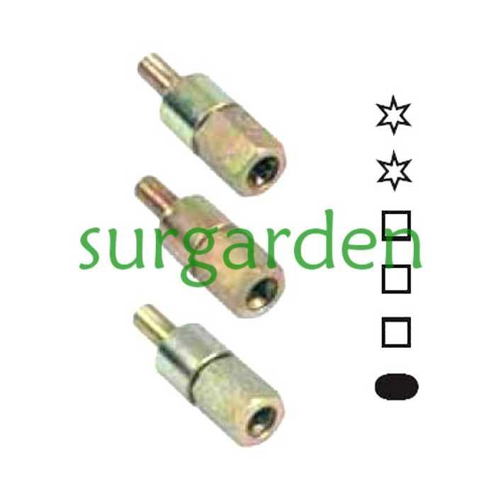Adaptador para cabezal universal con conexión cuadrada de 5,2 mms de lado