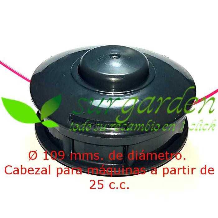 Cabezal de hilo Tapn´Go de 109 mms Ø de botón plástico para desbrozadora