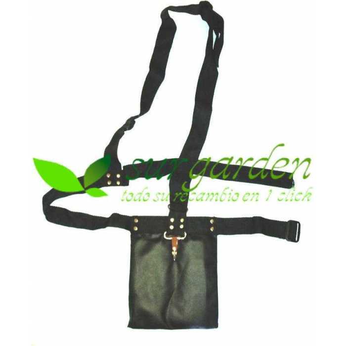 Arnés para desbrozadora simple con protector de cadera