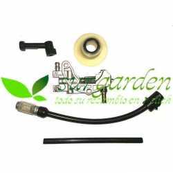 Kit de bomba de aceite + sinfín + tubos y conectores de aceite + filtro de aceite motosierra china Nordet - Topsun - Linea HD