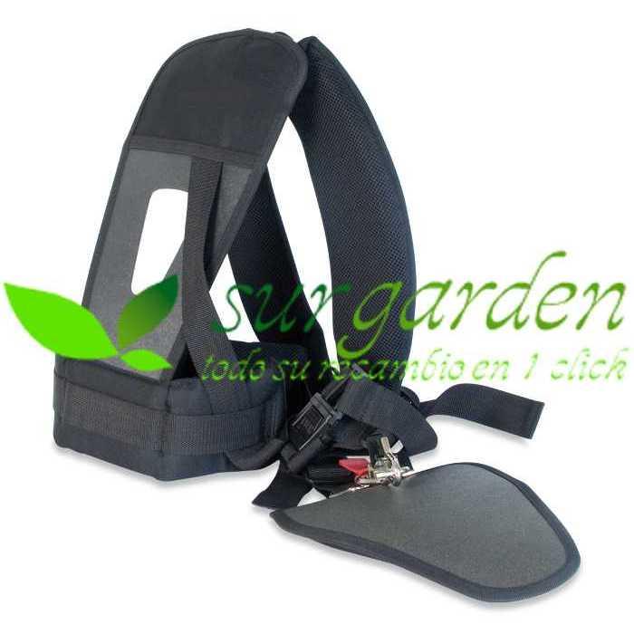 Arnés para desbrozadora profesional con protector de cadera y de hombros