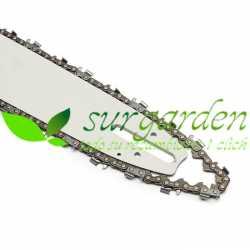 "Conjunto de espada + cadena de 16"" / 40 cms de corte para motosierra china 4500 / 5200 - 45 c.c. / 51 c.c. / 54 c.c."