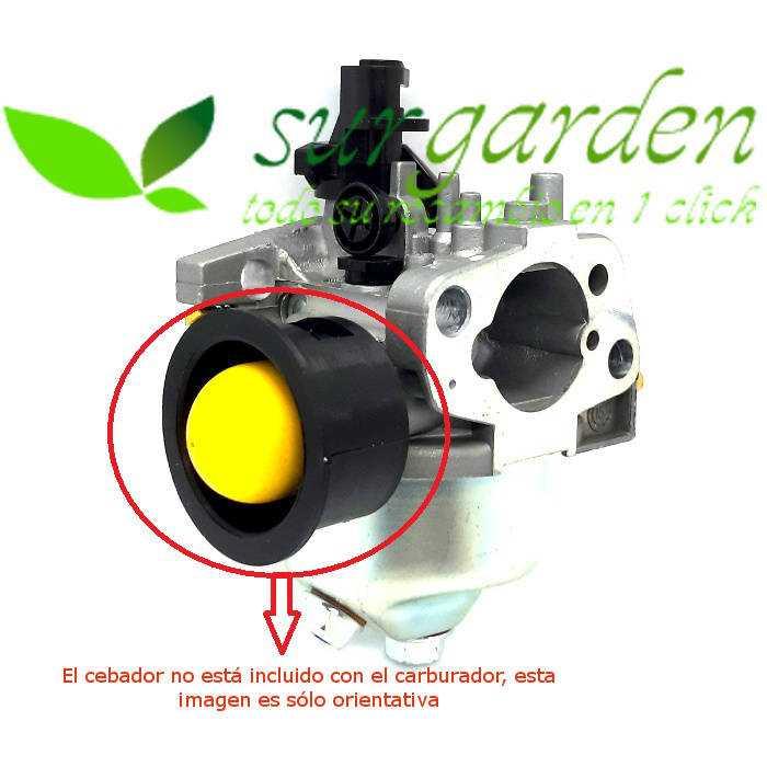 Carburador con cebado manual para motores asiáticos de cortacéspedes / motoazadas