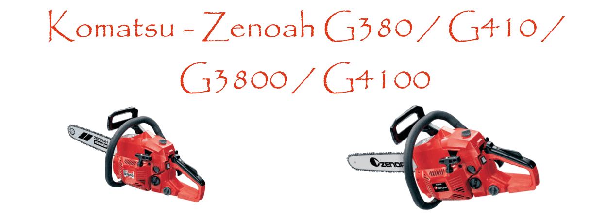 Motosierras Komatsu - Zenoah G380 / G410 / G3800 / G4100