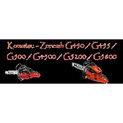 Motosierras Komatsu - Zenoah G450 / G455 / G500 / G4500 / G5200 / G5800